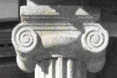 capitel columna jonica estriada
