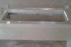 encimera de marmol con encastre pulido
