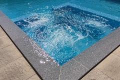 esquina albardilla de piscina de granito