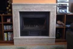 chimenea marmol travertino
